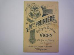2019 - 2742  Joli Dépliant PUB 4 Volets   MAISON PRUNIERE  Confiserie Générale VICHY   XXX - Reclame