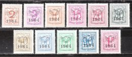 PRE747/57**  Chiffre Sur Lion - Année 1964 - Série Complète - MNH** - LOOK!!!! - Typos 1951-80 (Chiffre Sur Lion)