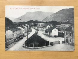 CARTOLINA ROCCHETTE PANORAMA DALLA STAZIONE - Vicenza
