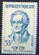 France 1957: GOETHE Johann Wolfgang Von Goethe (1749-1832) Mi 1173 Yv 1138 ** MNH (aus Serie Mi 1167-73 Yv 1132-38) - Writers