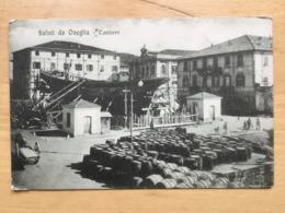 CARTOLINA SALUTI DA ONEGLIA CANTIERE - Imperia