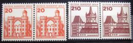 ALLEMAGNE Fédérale                       N° 842a/843a - Paires Horizontales                NEUF** - [7] West-Duitsland