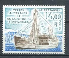 253 TERRES AUSTRALES (TAAF) 1992 - Yvert 169 - Antarctique Bateau Le Tottan - Neuf ** (MNH) Sans Trace De Charniere - Tierras Australes Y Antárticas Francesas (TAAF)