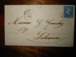 Lettre GC 2539 Morlaix Finistere Avec Correspondance - 1849-1876: Période Classique