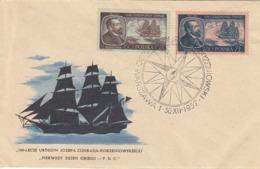 FDC POLAND 1043-1044,ships - FDC
