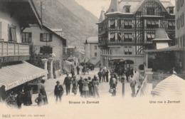 STRASSE IN ZERMATT . - VS Wallis