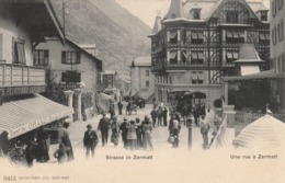 STRASSE IN ZERMATT . - VS Valais