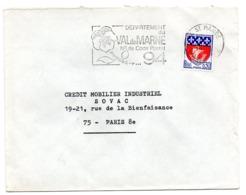 VAL De MARNE - Dépt N° 94 St MANDE 1968? = FLAMME Codée = SECAP  ' N° De CODE POSTAL / PENSEZ-Y ' - Zipcode