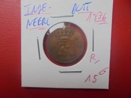 INDES NEERLANDAISES(SUMATRA) PATTERN-ESSAI ! DUIT 1836 PEU COURANTE ! (A.13) - [ 4] Colonie