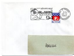 VAL De MARNE - Dépt N° 94  St MANDE 1966 = FLAMME Codée = SECAP  ' N° De CODE POSTAL / PENSEZ-Y ' - Zipcode