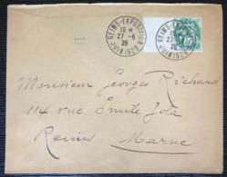 Lettre De Reims Expo En 1928 Avec Type Blanc à 5c En Port  Local - 1900-29 Blanc