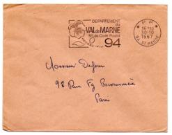 VAL De MARNE - Dépt N° 94  St MANDE 1967 = FLAMME PP Codée = SECAP  ' N° De CODE POSTAL / PENSEZ-Y ' - Postleitzahl