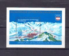 DDR. YT BF N° 38. JO D'innsbrück 1976. Neuf. Gomme Mate.  (3317) - [6] Oost-Duitsland