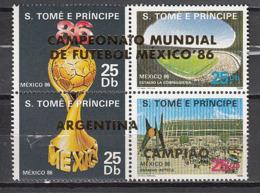 Football / Soccer / Fussball - WM 1986:  Sao Thomé  Zdr ** - Gold  A. - World Cup
