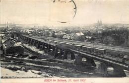 Luxembourg - Esch Im Schnee 27 April 1907 - Esch-sur-Alzette
