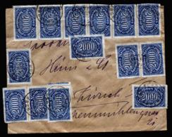 A6367) DR Infla Brief München 29.08.23 N. Zürich / CH M. MeF Mi.253 (30) - Briefe U. Dokumente