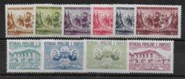 ALBANIE - ANNEES COMPLETES 1954 à 1956 - YVERT N° 462/471 ** MNH  - COTE = 22.5 EUR. - Albanien