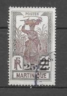 Timbres De 1908 Avec Nouvelle Valeur : N°112 Chez Y Et T. (Voir Commentaires) - Martinica (1886-1947)