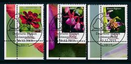 GERMANY Mi.Nr. 3189-3191 Freimarke: Blumen -  ESST -BERLIN - Eckrand Unten Links - Used - Gebraucht