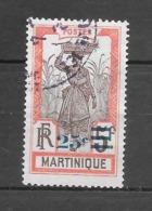 Timbres De 1908 Avec Nouvelle Valeur : N°113 Chez Y Et T. (Voir Commentaires) - Martinique (1886-1947)