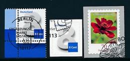 GERMANY Mi.Nr. 3188,3196, 3197  Freimarke: Ziffernzeichnung, Blume -  ESST BERLIN,Bonn - Eckrand Unten Links - Used - Gebraucht