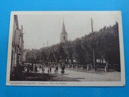 86 ) Saint-genest-d'ambière - Place De L'eglise - EDIT - Arambourou - France