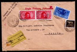 A6368) Italien Italy R-Brief Aidussina 07.10.32 N. Padova M. Wertangabe - Versichert