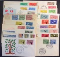 FDC5 Europa CEPT 1962 Complete Sauf Chypre Lot 18 Enveloppes Set - 1962