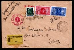 A6369) Italien Italy R-Brief Aidussina 29.10.32 N. Padova M. Wertangabe - 1900-44 Victor Emmanuel III.