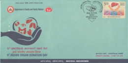 India  2018  Health  9th Indian Organ Donation Day  Special Cover  # 23421  D Inde  Indien - Medicine