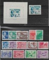 ALBANIE - ANNEE COMPLETE 1959 - YVERT N° 501/515 + BLOC N°6 ** MNH (SAUF BLOC N°5) - COTE = 83 EUR. - Albania
