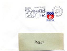 VAL De MARNE - Dépt N° 94 St MAUR Des FOSSES Ppal 1966 = FLAMME Codée = SECAP  ' N° De CODE POSTAL / PENSEZ-Y ' - Postleitzahl