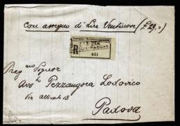 A6370) Italien Italy R-NN-Streifband Venedig 17.02.33 N. Padova Manuskripte - Versichert