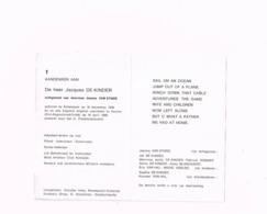 Jacques De Kinder,Antwerpen 16.12.1930,Veurne 16.4.1990.Korea-veteraan.Piloot,instructeur,examinator.Adjudant Op Rust. - Avvisi Di Necrologio