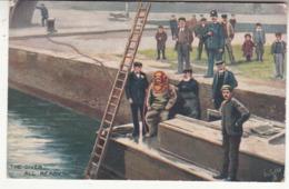 Mer - Illustrateur - Oilette - The Diver - All Ready ! - Scaphandrier - Fishing