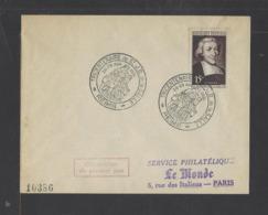 FRANCE.  YT  FDC  N° 882 Oblitération 1er Jour  1951 - FDC