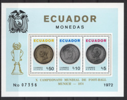 Football / Soccer / Fussball - WM 1974:  Ecuador  Bl **, Perf. - 1974 – Westdeutschland