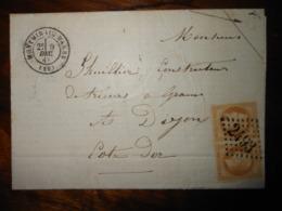 Lettre GC 2493 Montmirail Sur Marne Avec Correspondance - Marcofilie (Brieven)