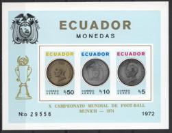 Football / Soccer / Fussball - WM 1974:  Ecuador  Bl **, Imperf. - 1974 – Westdeutschland