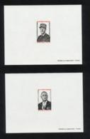 """SPM 2 EPREUVES DE LUXE DE 1971 """" GENERAL DE GAULLE """"  DES TIMBRES N° 419 ET 420 YVERT ET TELLIER -  ETAT ** - - De Gaulle (General)"""