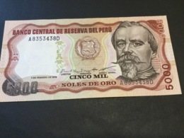PERU P117c 5000 Soles De Oro 1979 UNC. - Perù
