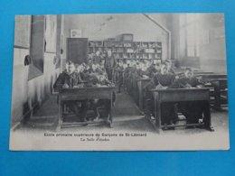 87 ) Saint-léonard De Noblat -  école Primaire Supèrieure De Garçons - La Salle D'etudes - Année 1907 - EDIT - Breger - Saint Leonard De Noblat