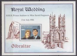 1986Gibraltar512/B10Prince Andrew And Miss Sarah Ferduson - Gibraltar