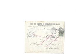 Le 130 Semeuse Lignée Sur Lettre Pour Tunis, Obl Daguin Jumelé De Nancy-Gare Du 21.03.1905, Retour à L'envoyeur - Marcophilie (Lettres)