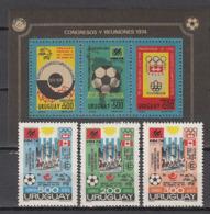 Football / Soccer / Fussball - WM 1974: Uruguay  3 W + Bl ** - 1974 – Westdeutschland