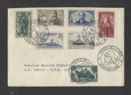 FRANCE.  YT  FDC  Fête De La Mer Cherbourg  Oblitération 1er Jour  1952 - FDC