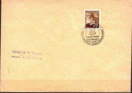 Czechoslovakia Cover With Coat Of Arm Odhaleni Pametny Deski... Cancel - Czechoslovakia