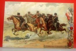 Militaria 15° Cavalleggeri Di Lodi  Caricat Savoia Riproduzione CARTOLINA Non Viaggiata - Reggimenti