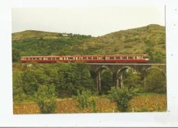 TRAIN SPECIAL ENTRE VILLENEUVE DE BERG ET ST JEAN LE CENTENIER VIADUC DU GAZEL (ARDECHE) MAI 1984 - France