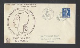 FRANCE.  YT  FDC  N° 1011B  Oblitération 1er Jour  22-6-57 - FDC